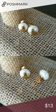 New stud earrings fresh water pearl The pearl is man made material,  mounted in stainless steel,  Amazing quality  ***Now you can make an offer on bundles, make the most out of the shipping cost *** Perfect for Mother's day present Jewelry Earrings