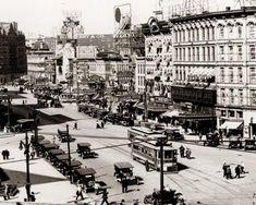 Detroit's Monroe Street 1918
