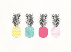 Coco/Mingo:Must-have: Tropical pineapple inspiration - Coco/Mingo Illustration Inspiration, Illustration Art, Capa Do Face, Pineapple Print, Pineapple Drawing, Pineapple Ideas, Pineapple Fabric, Pineapple Design, The Design Files