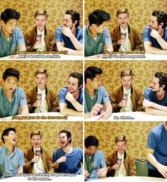 Gotta love the second last picture, they're all cracking up:)