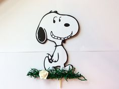 1Ft Snoopy Walking Stand Up Centerpiece with removable Wood base,Birthday Party,Baby Shower,Party Supplies,Engagement Party,Charlie Brown by LoveToFiesta on Etsy