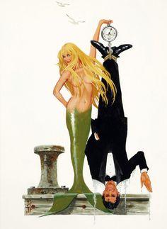 Splash (1984) , original movie poster concept illustration 1984 by Robert McGinnis.