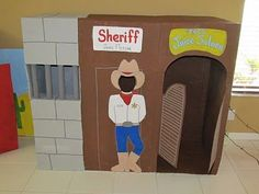 Adventures in Craftiness: Crafting a Cowboy Party: Cardboard Western Town
