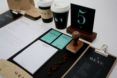 Branding : The MRKT Coffee Shop by Courtney HansenAMS Design Blog