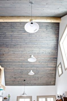 tlb: our tongue and groove tale | Hello, Scarlett Blog Porch Ceiling, Plank Ceiling, Wood Ceilings, Ceiling Beams, Pole Barn House Plans, Pole Barn Homes, Pole House, Cabin Plans, Metal Home Kits