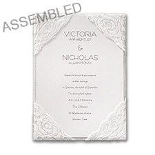 Sumptuous Silk and Lace Invitation- This invitation is drop dead gorgeous!!! www.dmeventsanddesign.com