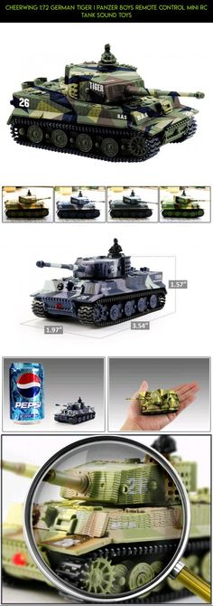 Cheerwing 1:72 German Tiger I Panzer boys Remote Control Mini RC tank Sound toys #german #drone #parts #racing #kit #tech #fpv #cheerwing #plans #gadgets #shopping #technology #tiger #products #camera