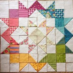 """You guys. Check out this beautiful quilt made with Meadowbloom and the (free) Moda Love pattern! I mean, all the heart eyes.  thanks for letting me…"""
