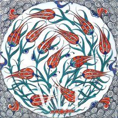 Turkish Tile Art Turkish tile #28                                                                                                                                                                                 More
