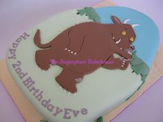 Gruffalo Birthday Cake by SugarplumB on DeviantArt Daddy Birthday, 2nd Birthday, Birthday Cakes, Birthday Ideas, Gruffalo Party, Birthday Cake Decorating, Cakes And More, Cake Designs, Fondant