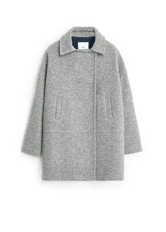 Wollen jas met zakken