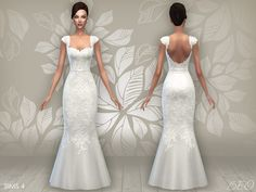 Wedding dress 06 for The Sims 4 by BEO