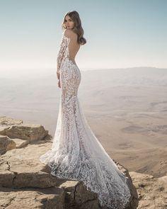 24 Chic Bridal Dresses: Styles & Silhouettes ❤ bridal dresses lace with long sleeves low back pnina tornai #weddingforward #wedding #bride #weddingoutfit #bridaloutfit #weddinggown