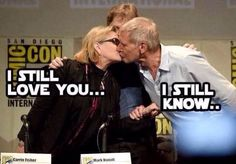 I'm crying #starwars #SDCC2015 #HanSolo #PrincessLeia #HarrisonFord #CarrieFisher
