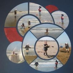 Great scrapbook layout for a fun day at the beach or anywhere. by Francie Flessa