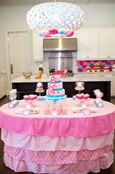 Pretty Table Clothe for Girly Birthday Parties!