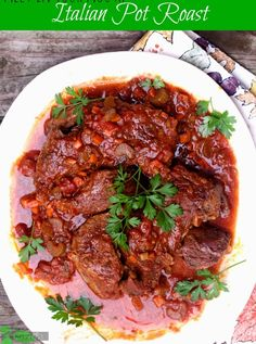 Melt in Your Mouth Italian Pot Roast. This is easy and my favorite way to cook a chuck roast. From Spinach Tiger.