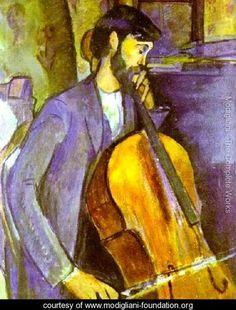 Cellist | Study For The Cellist - Amedeo Modigliani - www.modigliani-foundation ...