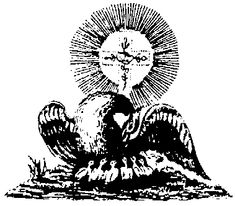 """""""This active working with the soul forces is ... pictured in the Pelican. The Pelican is shown stabbing its breast with its beak and nourishing its young with its own blood. The alchemist must enter into a kind of sacrificial relationship with his inner being. He must nourish with his own soul forces, the developing spiritual embryo within. ... One's image of one's self must be changed, transformed, sacrificed to the developing spiritual self."""""""