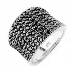 d4ed52be6daf anillo plata con circonitas negras de lineargent Anillo plata  www.relojesplatayacero.com