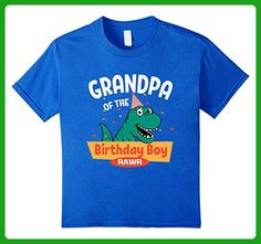 Kids Grandpa of the Birthday Boy T-Shirt Dinosaur Raptor Shirt 6 Royal Blue - Birthday shirts (*Amazon Partner-Link)