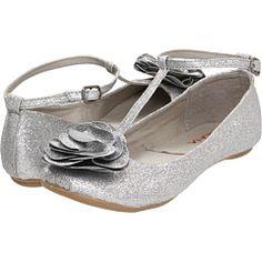 Silver T-Strap Flats