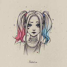 drawing natalico quinn harley deviantart drawings pencil sketches cartoon anime simple disney