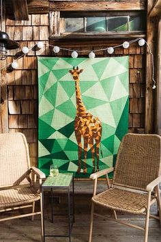 I'm in love with this quilt! Boost your quilting technique when you foundation piece your own Giraffe Quilt designed by Violet Craft.