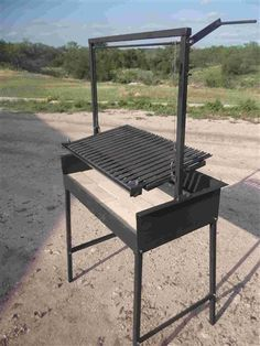 """Argentine Grill or Parrilla 32X18 w/""""V"""" Grate and Drip Pan"""