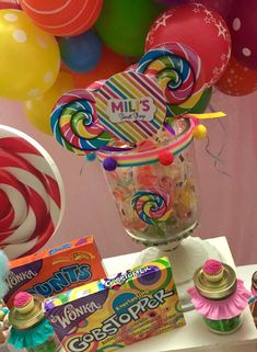 Erika Cool Party's Birthday / Candys - Mili's Sweet Shop at Catch My Party Sweet 16 Birthday, 2nd Birthday Parties, 16th Birthday, Birthday Cakes, Birthday Ideas, Crystal Reed, Candy Party, Candy Shop, Candy Buffet