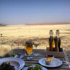 Lunch at Sossusvlei Desert Lodge in Namibia >>> What a peaceful view for lunch!