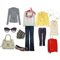 Spring traveling outfits
