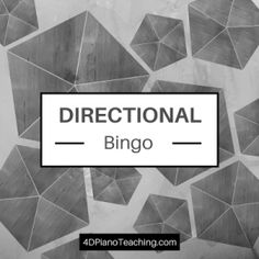 Directional Reading Bingo - you'll love playing this with your budding musicians!