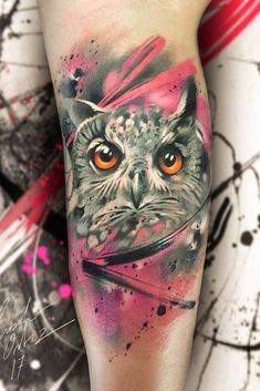 24 Owl Tattoo Designs That Will Make You Drool With Satisfaction Owl Tattoo Design Watercolor Owl Tattoos Tattoo Designs