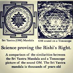 Sri Yantra Mandala vs OM on Tonoscope!