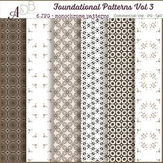 Foundational Patterns Vol. 03, papers, background. cu, commercial, scrap, scrapbooking, cudigitals.com,