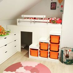 Ikea Kura Bed, New Beds, Exercise For Kids, Bedroom Inspo, Kitchen Flooring, Girl Room, Kids Bedroom, Room Inspiration, Small Spaces