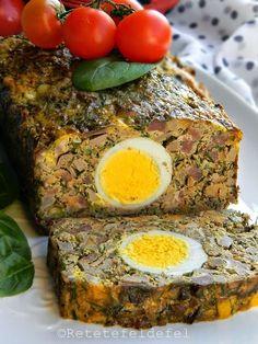 DROB DE MIEL   Rețete Fel de Fel Romania Food, Kebab, Hungarian Recipes, Easter Recipes, Easter Food, Meatloaf, Bacon, Good Food, Food And Drink