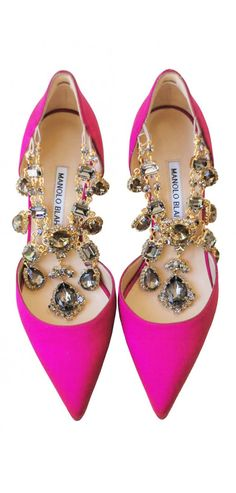 Manolo Bejeweled Pink Pumps♥♥ // buy here