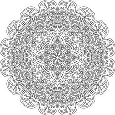 Mindful Compassion - Free Printable Coloring Page #adultcoloring #mandalas