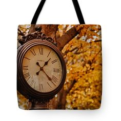 """Time for fall foliage in Salem Tote Bag 18"""" x 18"""""""