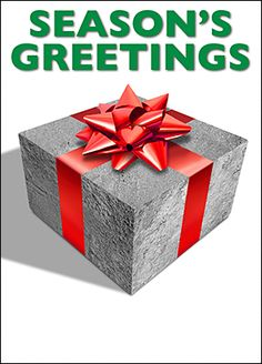 Featuring a concrete block wrapped in a shiny red bow, the Concrete Block Christmas Card is perfect for concrete workers and construction professionals who want to send well-wishes to clients and contacts this holiday season.