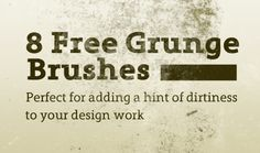 a collection of eight free grunge Photoshop brushes