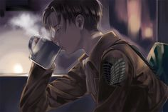 *Takes a sip of the hot tea,siting in silence of the pouring rain outside*