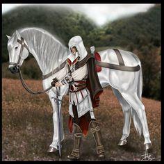 Ezio and horse by Llirika.deviantart.com on @deviantART