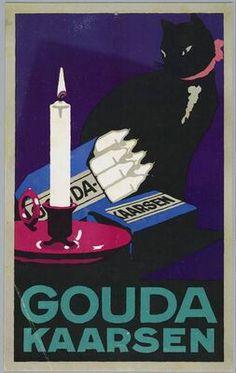 Gouda Candles Dutch advertising poster, 1910-1920