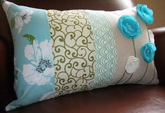 Now I want to sew some new throw pillows for my family room! Love these!