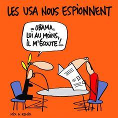 ESPIONAGE USA/FRANCE :: Le grand bluff :: La révélation, tard mardi soir, de la mise sur écoute des trois derniers présidents français par les espions américains a provoqué une onde de choc en France, dans le monde politique. Les révélations n'en sont de toute façon pas vraiment. La puissance de feu de la NSA est bien connue depuis plusieurs années...
