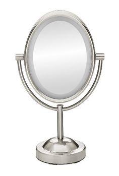 Conair True Glow Oval Satin Nickel Double-Sided Lighted Make-up Mirror Conair http://www.amazon.com/dp/B00EL8RLL8/ref=cm_sw_r_pi_dp_8bHYub0JENK7H