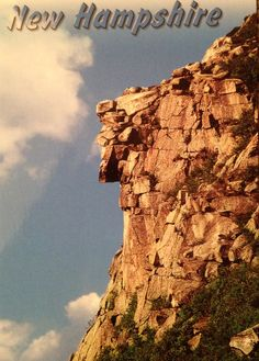 Postcard of The Old Man of the Mountain, sent to Germany via Postcrossing